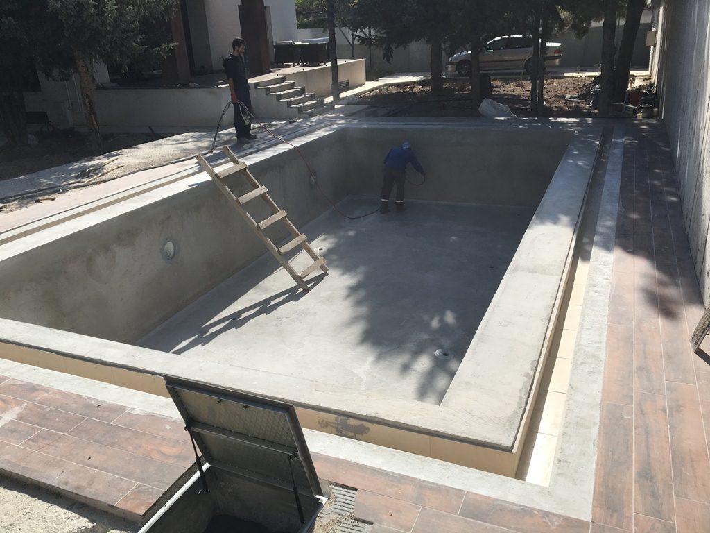 sprey polyurea havuz yalıtımı zemin hazırlığı